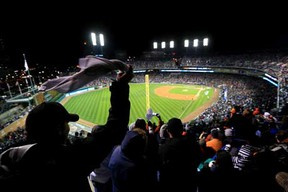 Detroit Tigers fans cheer at Comerica Park in Detroit, Michigan in this 2012 file photo.  (Photo by Doug Pensinger/Getty Images)