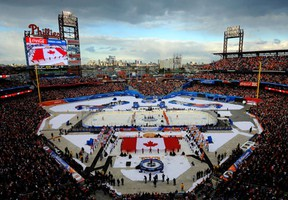 The NHL Winter Classic was played in Philadelphia last year between the Flyers and Rangers. (Photo by Patrick McDermott/Getty Images)