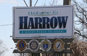 File photo of the town of Harrow sign. (Windsor Star files)
