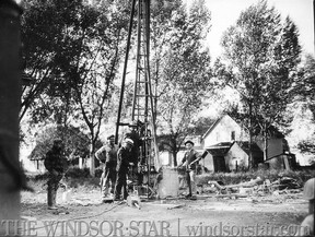 Drilling for oil in Tecumseh Ontario. (The Windsor Star-FILE)