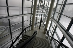 Interior staircase at Art Gallery of Windsor Tuesday February 23, 2010. (NICK BRANCACCIO/The Windsor Star)