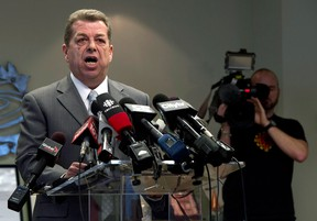 Elementary Teachers Federation of Ontario President Sam Hammond speaks at a news conference in Toronto on Thursday, January 3, 2013. (THE CANADIAN PRESS/Frank Gunn)