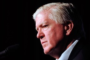 Former Toronto Maple Leafs general manager Brian Burke has filed a lawsuit saying he was defamed in online comments accusing him of having an affair with a sports reporter. (Getty Images files)