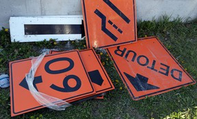Detour signs indicate road construction is on the horizon. (Windsor Star files)
