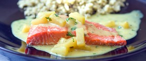 Dive into seafood like salmon, above, ocean trout, cod or mackerel more often for a better diet. (Postmedia News files).