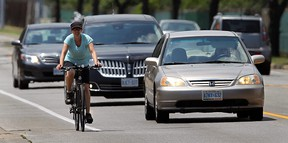 The relationship between cyclists and drivers has been rocky at times. (TYLER BROWNBRIDGE / Windsor Star files)