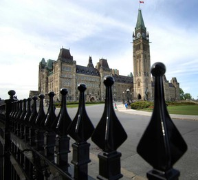 File photo of the Parliament Buildings in Ottawa.