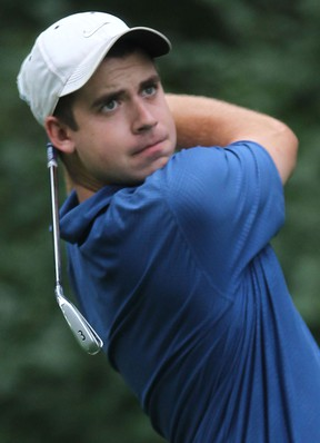 LaSalle's Doug Hoppe hits a shot during the Jamieson Junior Golf Tour at Seven Lakes.  (DAN JANISSE/The Windsor Star)