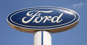The familiar Ford Motor Company blue oval logo. (Getty Images files)