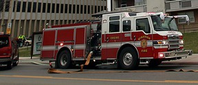 A Windsor Fire and Rescue truck in the downtown area in April 2013. (Windsor Star files)