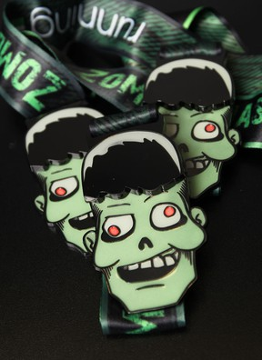 Finish the Zombie Chase this weekend and you'll be given one of these cool medals. (Star photo: Dax Melmer)