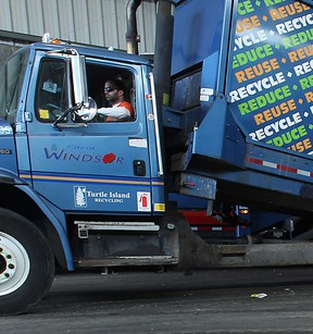 File photo of a truck at the Essex-Windsor Solid Waste Authority facility in Windsor, Ont. (Windsor Star files)