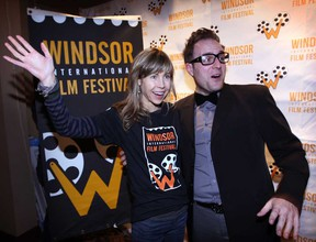 Louise Archambault, left, director of WIFF Opening Night film Gabrielle, poses with WIFF marketing director Vincent Georgie at the Capitol Theatre in Windsor, Ont., Tuesday, November 5 , 2013. (NICK BRANCACCIO/The Windsor Star)