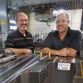 Euclide Cecchin and his son Dave Cecchin, on July 28, 2010, are the owners of the family buisness Omega Tool Corp. in Windsor and one of the top five tool companies in the country. (Dan Janisse/The Windsor Star)