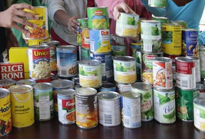 File photo of canned goods. (Windsor Star files)