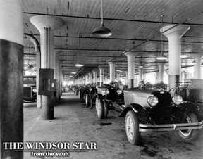 The original Dodge Truck main assembly line is pictured during its heyday at the corner of Tecumseh Road and McDougall Avenue in this undated file photo. (FILES/The Windsor Star)