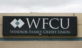 The Windsor Family Credit Union's logo at one of its branches in 2007. (Dan Janisse / The Windsor Star)