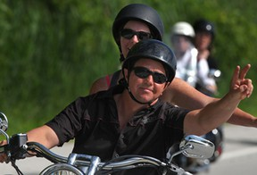 The Bob Probert Memorial Ride makes its way down Malden Road, Sunday, June 22, 2014.  Funds raised from the event support cardiac care in Windsor-Essex.  (DAX MELMER/The Windsor Star)