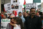 People participate in a solidarity march for Palestine in downtown Windsor, Friday, July 18, 2014.  (DAX MELMER/The Windsor Star)