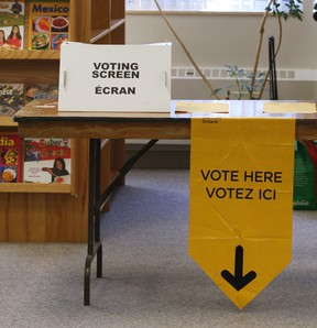 A voting station at Dougall Public School in Oct. 2011. (Windsor Star files)