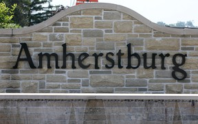 A welcome sign for the Town of Amherstburg is shown in this 2013 file photo. (Dan Janisse / The Windsor Star)