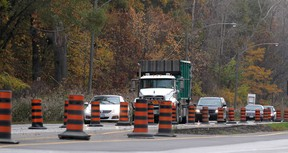 Traffic flows along Ojibway Parkway Monday, Oct. 20, 2014.  (DAX MELMER/The Windsor Star)