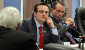 City councillors Irek Kusmierczyk and Bill Marra, right, are pictured in this Jan. 5, 2015 file photo. (NICK BRANCACCIO/The Windsor Star)