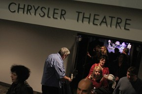 In this file photo, theatregoers file out of the Chrysler Theatre on a Saturday night.  (RICK DAWES/The Windsor Star)
