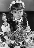 Students of the Easter egg art are of all ages. Tamara Lee Wojcik, 5, of 1005 St. Rose Ave., Riverside is pictured on April 29, 1964. (FILES/The Windsor Star)