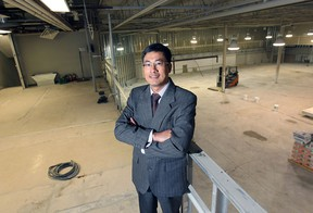 Qing Qing Lin, owner of MultiFoods Supermarket is shown in the former Price Chopper building on Crawford Ave. in Windsor, ON. on Wednesday, April 8, 2015. The building is being completely renovated for the new grocery store which will open soon. (DAN JANISSE/The Windsor Star)