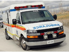 An Essex-Windsor EMS ambulance is shown in this undated photo.
