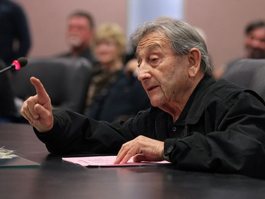 Al Nelman answers questions during a regular meeting at city hall in Windsor on Thursday, October 29, 2015.