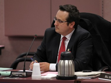 Irek Kusmierczyk participates in the auditor general report debate during a council meeting at city hall in Windsor on Thursday, October 29, 2015.