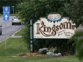 Town of Kingsville welcome sign on County Road 20 near Wigle Grove is pictured in this file photo.