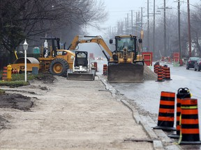 Construction continues on Todd Lane in LaSalle, Ont. near the Herb Gray Parkway on Dec. 1, 2015.