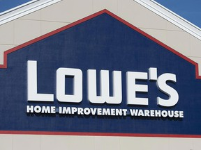 Sign of a Lowe's home improvement store in Maryland.