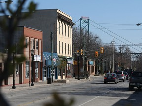 Sandwich Street in Windsor, Ont. is pictured on April 15, 2016.