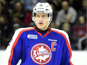 Captain Patrick Sanvido was traded by the Windsor Spitfires on Wednesday to the Sudbury Wolves.