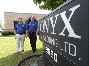 Onyx Engineering Ltd. president Dave Nixon, left, and vice-president Dino Oliva are celebrating the company's 25th anniversary.
