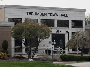 Tecumseh Town Hall is shown on May 11, 2016.