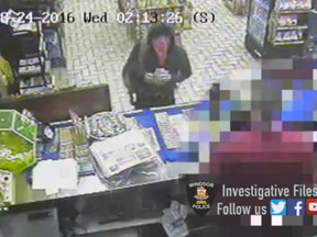 Windsor police are looking for an armed robber who held up a convenience store early Wednesday.
