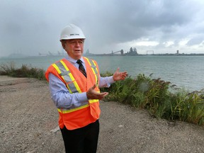 WDBA President Michael Cautillo is shown at the Canadian point of entry for the Gordie Howe International Bridge on Sept. 8, 2016.