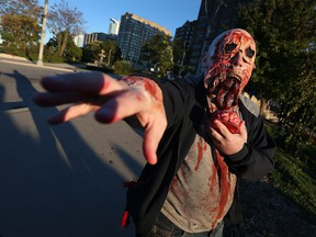 George Des Rosiers takes part in the annual Zombie Walk in Dieppe Park in Windsor on Saturday, October 22, 2016.