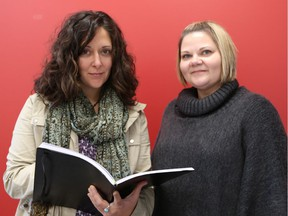 Natalie Westfall, left, and Belinda Leaman, both mental health and addictions nurses with the Erie St Clair Community Care Access Centre, say opioid use among area high school students is rising at an alarming rate.