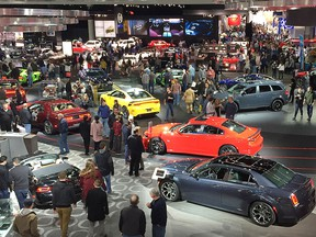 Attendance was strong on the first weekend of of last year's North American International Auto Show in Detroit.