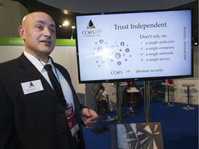 Joe Latouf, president of Cora Cyber Security, is pictured at the North American International Auto Show on Jan. 8, 2017.