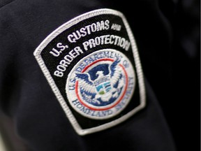 A U.S. Customs and Border Protection officer's patch is seen on March 4, 2015 in Miami, Fla.