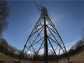 A hydro towers is shown at Brunet Park in LaSalle in this file photo.