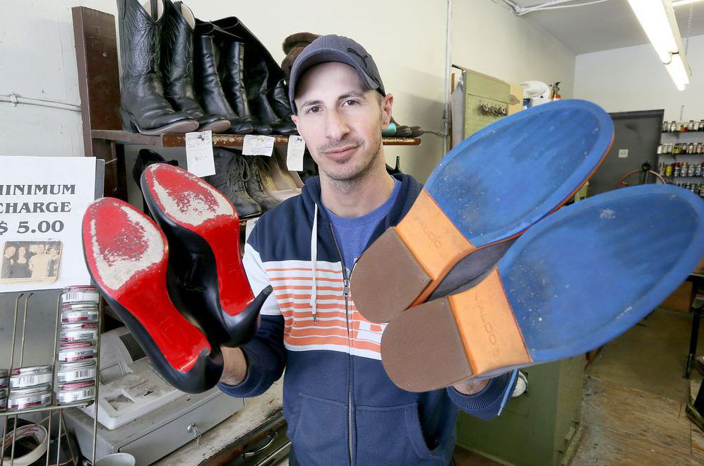 Young cobbler taking steps toward