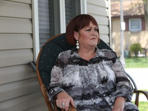 Andrea Russell, who's husband was the motorcyclist killed on E.C. Row Expressway by a car driven by DJ Cassady, is photographed at her Essex home. Cassady, who was sentenced in September to three and a half years in prison for killing her husband, has applied for day parole.